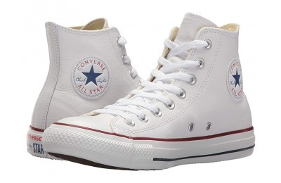 Black Friday Converse Chuck Taylor® All Star® Leather Hi White Leather Sale