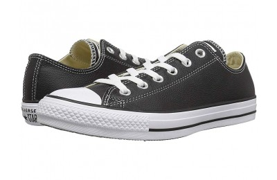 [ Hot Deals ] Converse Chuck Taylor® All Star® Leather Ox Black