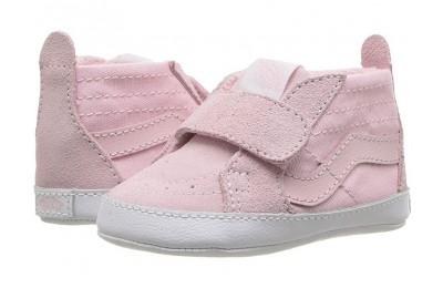 Christmas Deals 2019 - Vans Kids SK8-Hi Crib (Infant/Toddler) Chalk Pink/True White