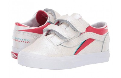 Vans Kids Vans x David Bowie Sneaker Collab (Infant/Toddler) (Old Skool V) Aladdin Sane/True White