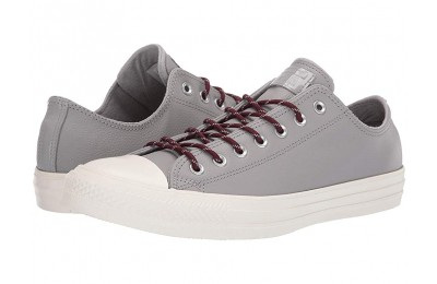 [ Hot Deals ] Converse Chuck Taylor® All Star® Limo Leather Ox Dolphin/Dark Burgundy/Egret