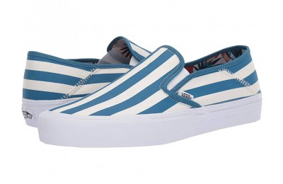 [ Hot Deals ] Vans Slip-On SF (Vintage Rio) Stripes/Blue Sapphire
