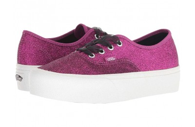 [ Hot Deals ] Vans Authentic Platform 2.0 (Glitter) Wild Aster/True White