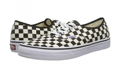 [ Hot Deals ] Vans Authentic™ (Golden Coast) Black/White Checker