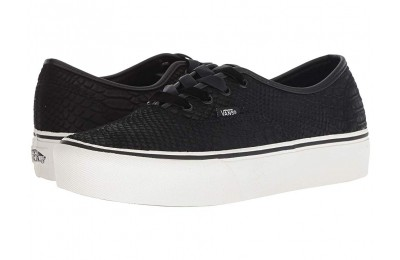 [ Hot Deals ] Vans Authentic Platform 2.0 (Leather) Snake/Black