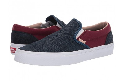 [ Hot Deals ] Vans Classic Slip-On™ (Textured Suede) Sailor Blue/Port