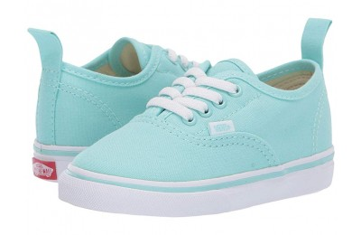 [ Hot Deals ] Vans Kids Authentic Elastic Lace (Toddler) Blue Tint/True White