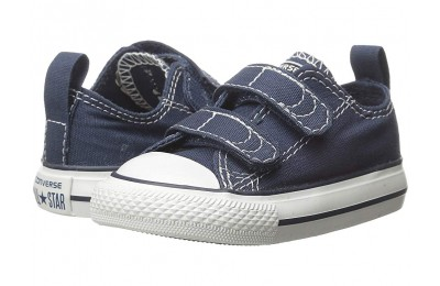 [ Hot Deals ] Converse Kids Chuck Taylor® 2V Ox (Infant/Toddler) Athletic Navy