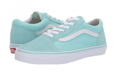 Christmas Deals 2019 - Vans Kids Old Skool (Little Kid/Big Kid) Blue Tint/True White