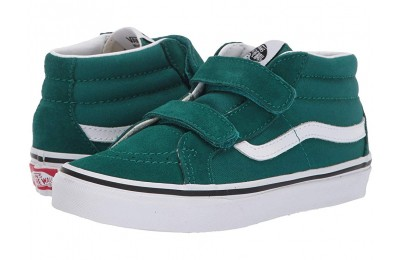 [ Hot Deals ] Vans Kids SK8-Mid Reissue V (Little Kid/Big Kid) Quetzal Green/True White