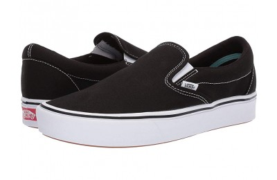 Vans ComfyCush Slip-On (Classic) Black/True White Black Friday Sale