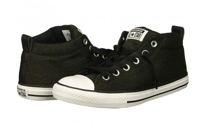 Hot Sale Converse Kids Chuck Taylor All Star Street - Mid (Little Kid/Big Kid) Utility Green/Black/White