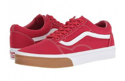 Vans Old Skool™ (Gum Bumper) Red/True White Black Friday Sale