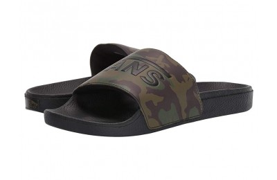 Vans Slide-On (Camo) Black/Green Black Friday Sale