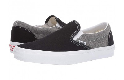 Vans Classic Slip-On™ (Chambray) Canvas Black/True White Black Friday Sale