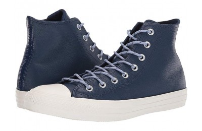 [ Hot Deals ] Converse Chuck Taylor® All Star® Limo Leather Hi Navy/Indigo Fog/Egret