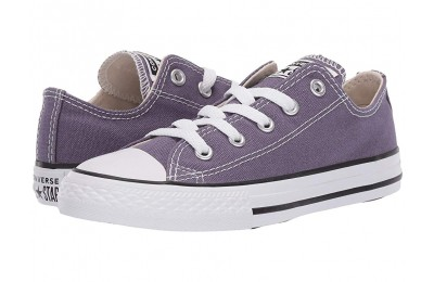 Hot Sale Converse Kids Chuck Taylor® All Star® Seasonal - Ox (Little Kid/Big Kid) Moody Purple/Natural Ivory/White