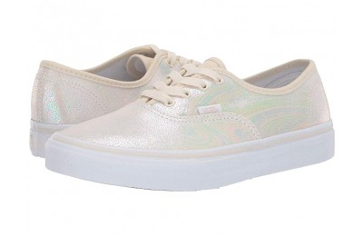 [ Black Friday 2019 ] Vans Kids Authentic (Little Kid/Big Kid) (Metallic Oil Slick) True White/Turtledove