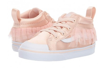 [ Hot Deals ] Vans Kids Satin Tulle Racer Mid (Toddler) (Satin Tulle) Vanilla Cream/True White