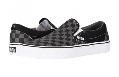 [ Hot Deals ] Vans Classic Slip-On™ Core Classics (Checkerboard) Black/Pewter