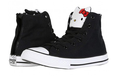 [ Hot Deals ] Converse Kids Hello Kitty® Chuck Taylor® All Star® Hi (Little Kid) Black/Fiery Red/White