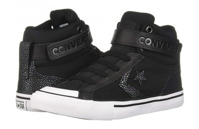[ Hot Deals ] Converse Kids Pro Blaze Strap - Hi (Little Kid/Big Kid) Black/Black/White