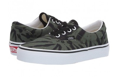 Vans Kids Era (Little Kid/Big Kid) (Tie Dye) Garden Green/True White Black Friday Sale