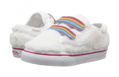 Vans Kids Style 23 V (Infant/Toddler) (Shearling Rainbow) True White Black Friday Sale