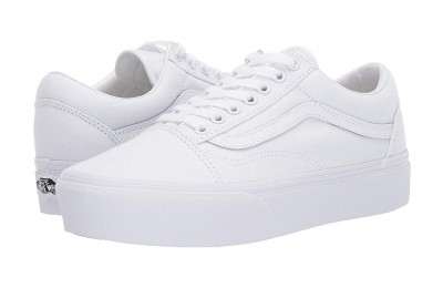 Vans Old Skool Platform True White Black Friday Sale