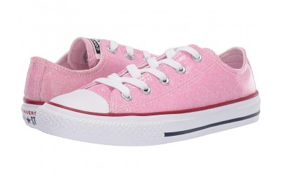 Converse Kids Chuck Taylor All Star Sparkle - Ox (Little Kid/Big Kid) Pink Foam/Enamel Red/White