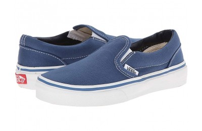 [ Black Friday 2019 ] Vans Kids Classic Slip-On (Little Kid/Big Kid) Navy/True White