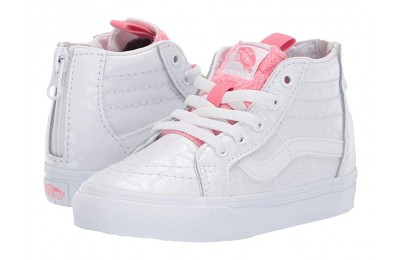 [ Hot Deals ] Vans Kids Sk8-Hi Zip (Toddler) (White Giraffe) True White/Strawberry Pink
