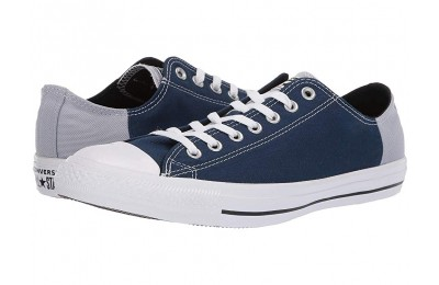 [ Hot Deals ] Converse Chuck Taylor® All Star® Color Block Patch Ox Navy/Wolf Grey/White