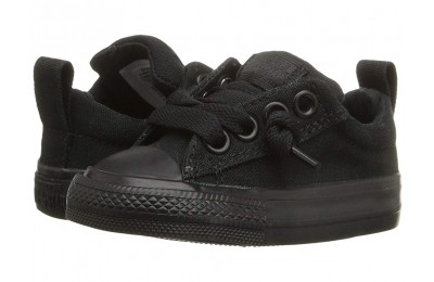 Black Friday Converse Kids Chuck Taylor® All Star® Street Ox (Infant/Toddler) Black Monochrome Sale