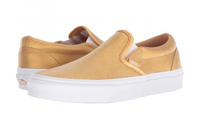 [ Hot Deals ] Vans Classic Slip-On™ (Metallic) Bronze/True White