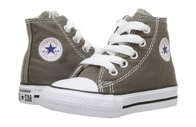 [ Hot Deals ] Converse Kids Chuck Taylor® All Star® Core Hi (Infant/Toddler) Charcoal