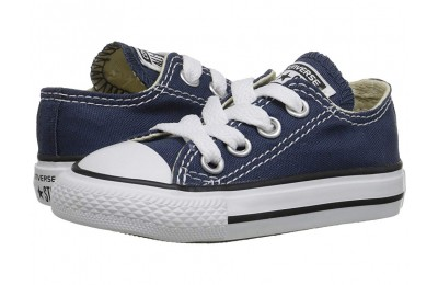 Christmas Deals 2019 - Converse Kids Chuck Taylor® All Star® Core Ox (Infant/Toddler) Navy