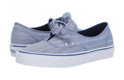 Christmas Deals 2019 - Vans Authentic Knotted (Lace Chambray) True Blue/True White