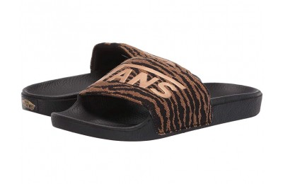 [ Hot Deals ] Vans Slide-On (Woven Tiger) Black
