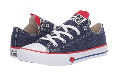 Hot Sale Converse Kids Chuck Taylor All Star Denim Love - Ox (Little Kid) Navy/Enamel Red/Blue