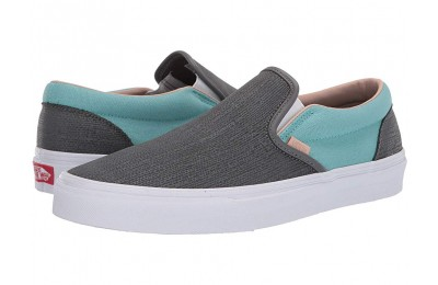 [ Hot Deals ] Vans Classic Slip-On™ (Textured Suede) Pewter/Aqua Haze