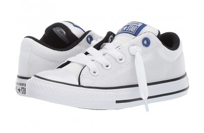 Christmas Deals 2019 - Converse Kids Chuck Taylor All Star Street Uniform - Slip (Little Kid/Big Kid) White/Blue/Black