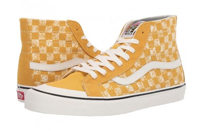 [ Hot Deals ] Vans SK8-Hi 138 Decon SF (Distressed Checkeroard) Yolk Yellow