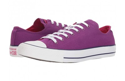 Christmas Deals 2019 - Converse Chuck Taylor All Star Seasonal Ox Icon Violet/Pink Pop/White