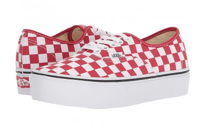 [ Hot Deals ] Vans Authentic Platform 2.0 (Checkerboard) Racing Red/True White