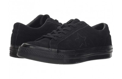 [ Hot Deals ] Converse Kids One Star - Ox (Big Kid) Black/Black/Black