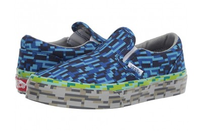 Vans Kids Classic Slip-On (Little Kid/Big Kid) (Digi Earth) Water/Grass/Rock Black Friday Sale