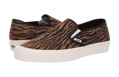 [ Hot Deals ] Vans Slip-On SF (Woven Tiger) Black