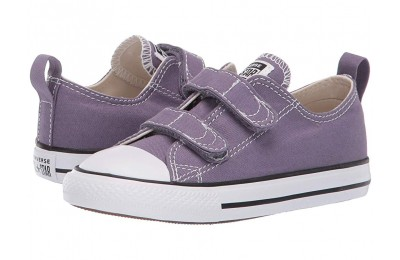 [ Hot Deals ] Converse Kids Chuck Taylor® All Star® 2V Seasonal Ox (Infant/Toddler) Moody Purple/Natural Ivory/White