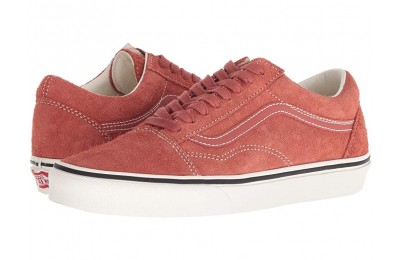 [ Hot Deals ] Vans Old Skool (Hairy Suede) Hot Sauce/Snow White